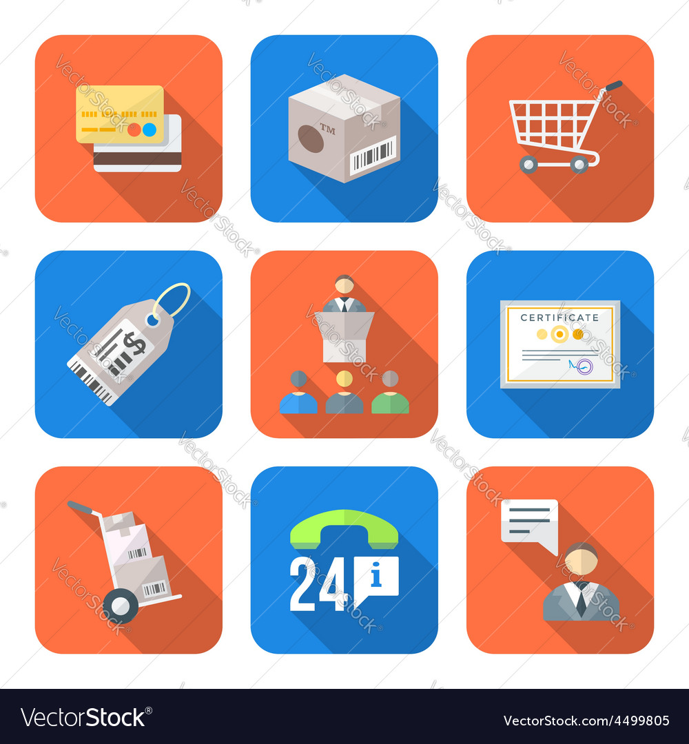 Various colorful flat style business distribution vector | Price: 1 Credit (USD $1)