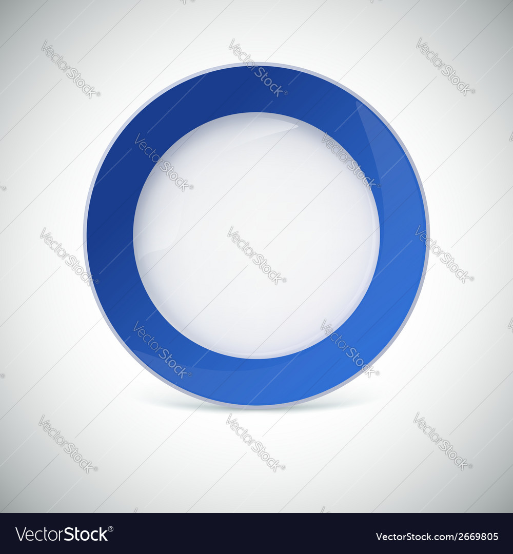 White plate with blue border vector | Price: 1 Credit (USD $1)