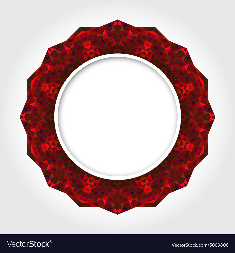 Abstract white round frame with red digital border vector | Price: 1 Credit (USD $1)