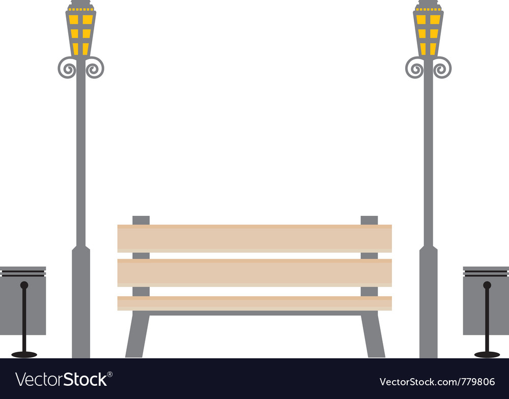 Bench in the park vector | Price: 1 Credit (USD $1)
