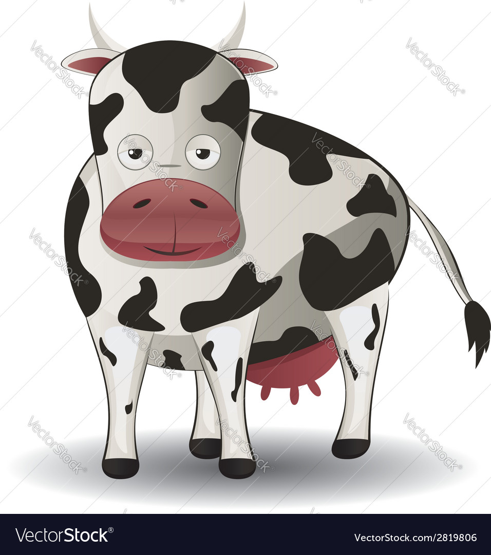 Cartoon cow vector | Price: 1 Credit (USD $1)