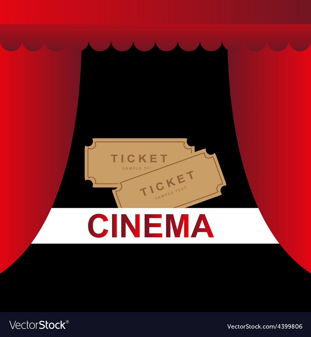 Cinema theater tickets background vector | Price: 1 Credit (USD $1)