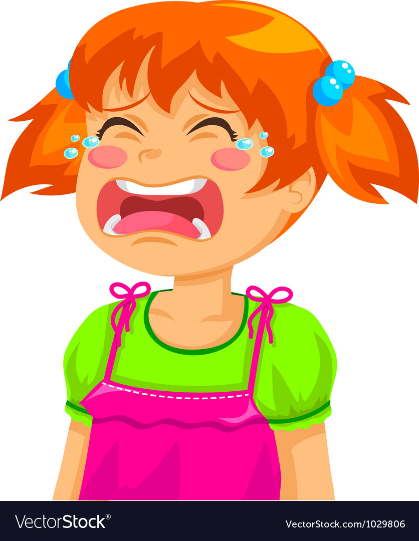 Crying girl vector | Price: 3 Credit (USD $3)