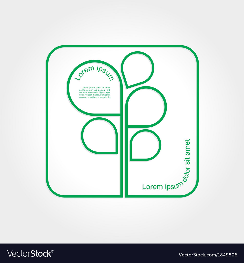 Eco green tree logo template vector | Price: 1 Credit (USD $1)