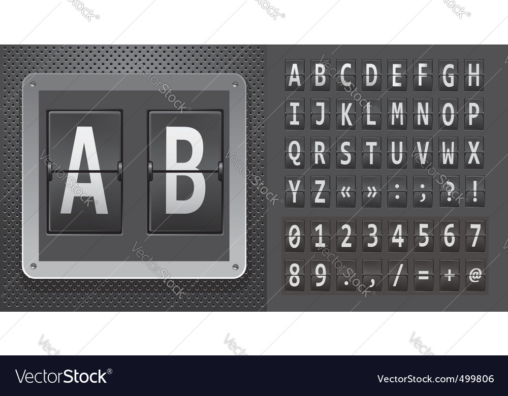 Metallic plaque with abc vector | Price: 1 Credit (USD $1)