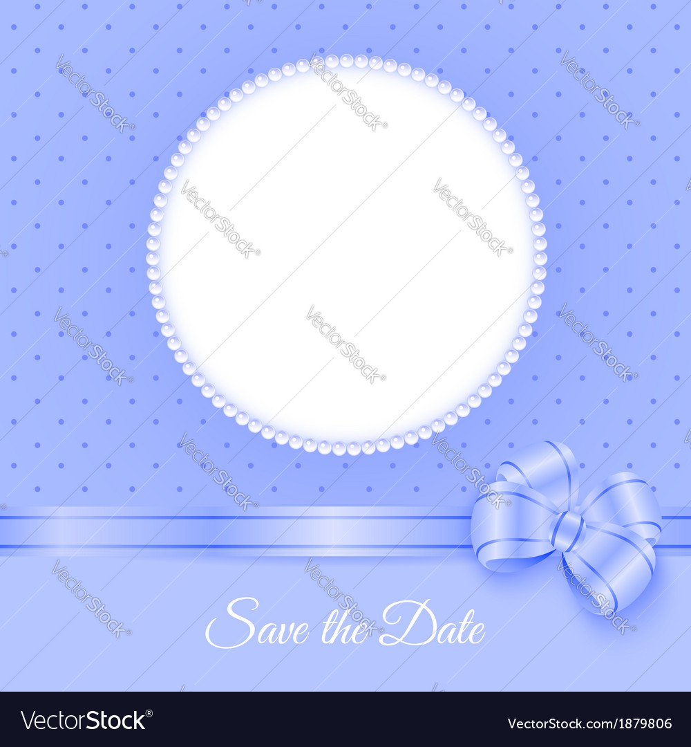 Photoframe with beads and bow vector | Price: 1 Credit (USD $1)