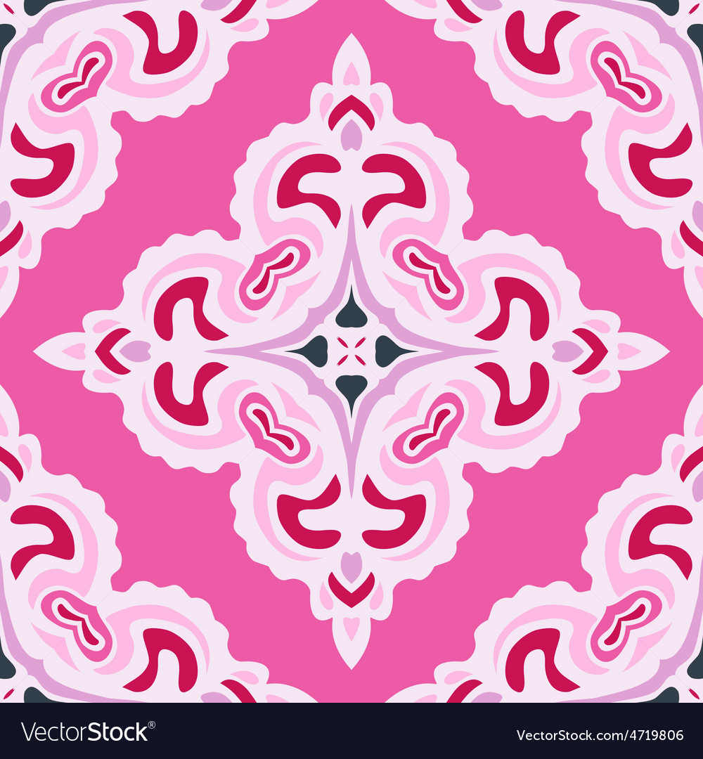 Pink abstract seamless pattern tile vector | Price: 1 Credit (USD $1)