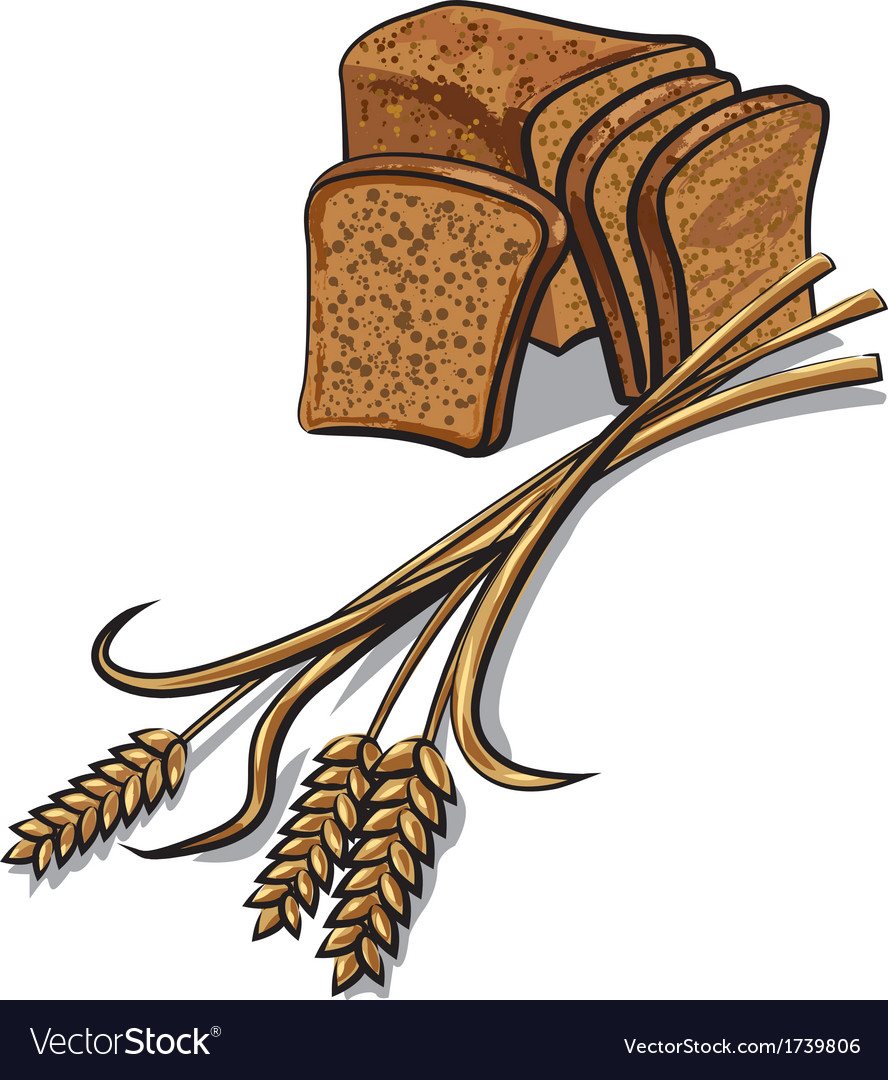 Rye bread vector | Price: 1 Credit (USD $1)