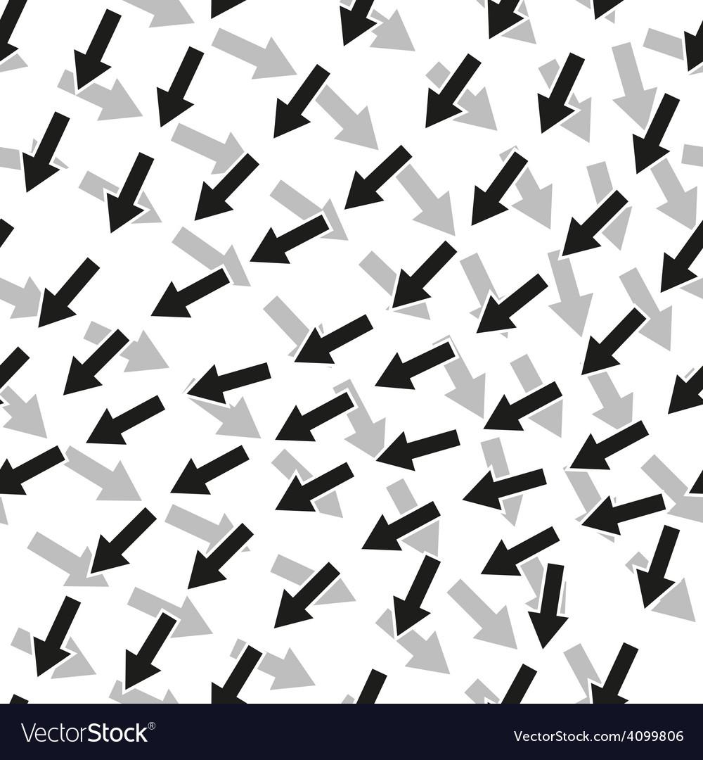 Seamless arrow pattern vector