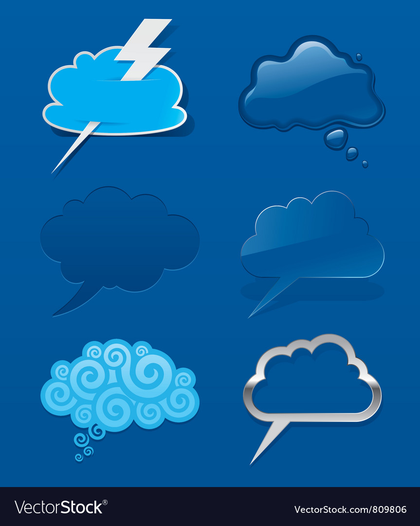 Set of different speech cloud vector | Price: 1 Credit (USD $1)