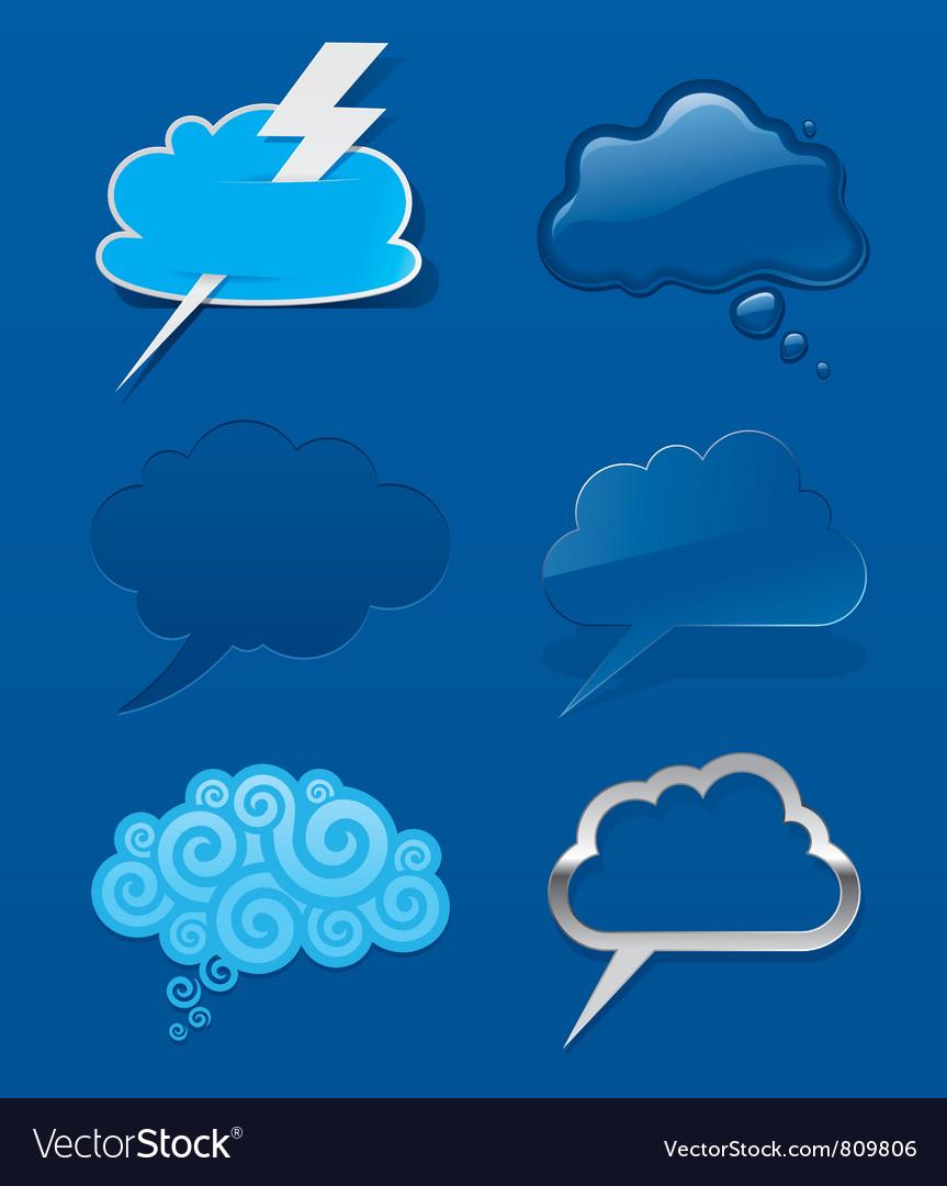 Set of different speech cloud vector | Price: 1 Credit (USD $1)