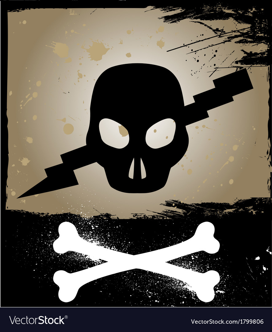 Skull on grunge background vector | Price: 1 Credit (USD $1)