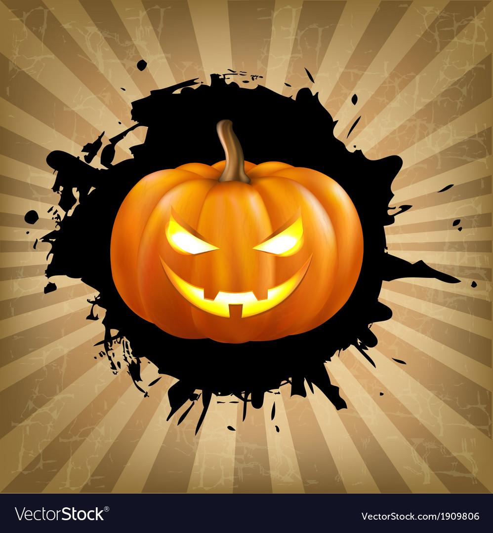 Vintage helloween poster vector | Price: 1 Credit (USD $1)