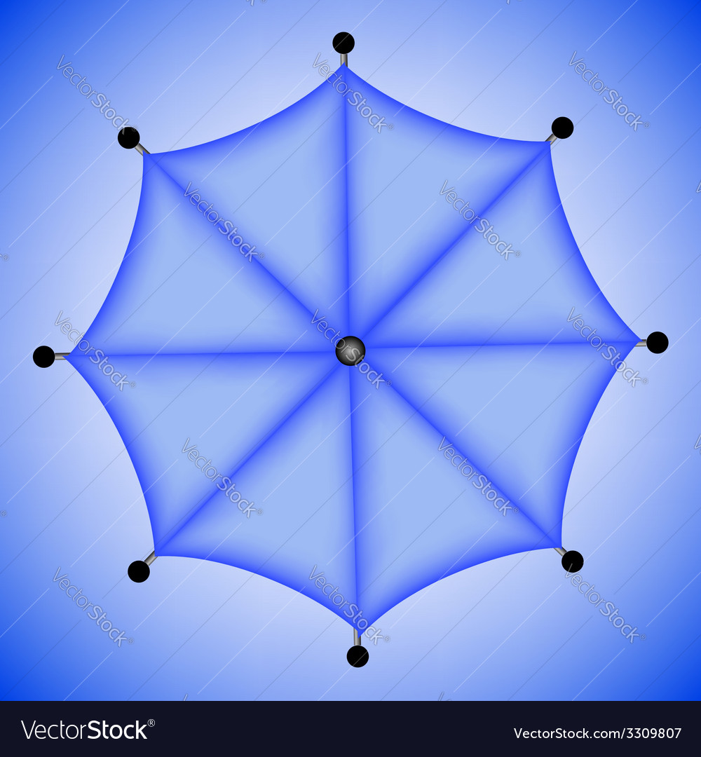 1954blue umbrella vector | Price: 1 Credit (USD $1)