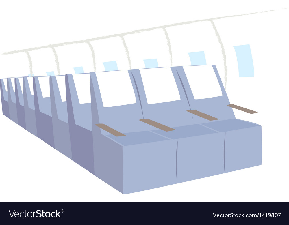 Airplane seats background vector | Price: 1 Credit (USD $1)
