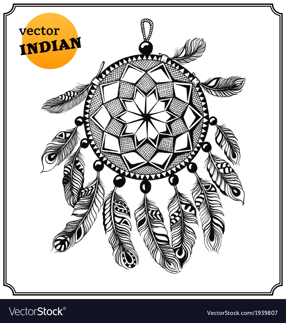 American indian dreamcatcher of shaman vector | Price: 1 Credit (USD $1)