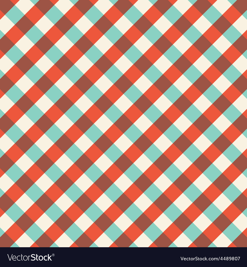 Bicolor gingham tablecloth pattern background vector