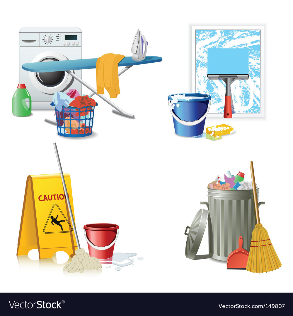 Cleaning icons vector | Price: 5 Credit (USD $5)
