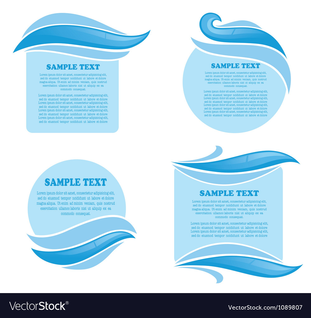 Clear water stickers and symbols for your text vector | Price: 1 Credit (USD $1)