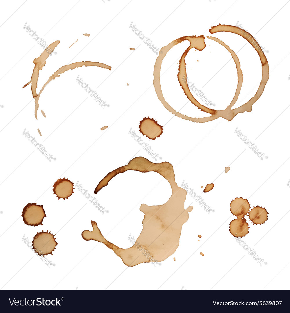 Coffee stain rings set isolated on white vector | Price: 1 Credit (USD $1)