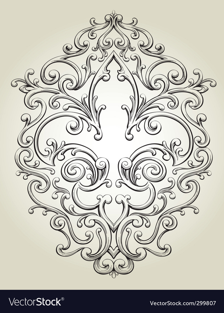 Fancy fleur de lies frame vector | Price: 3 Credit (USD $3)