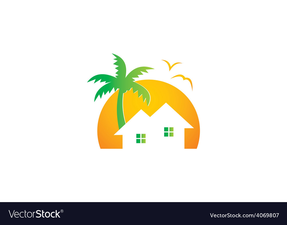 Home cottage nature abstract logo vector | Price: 1 Credit (USD $1)