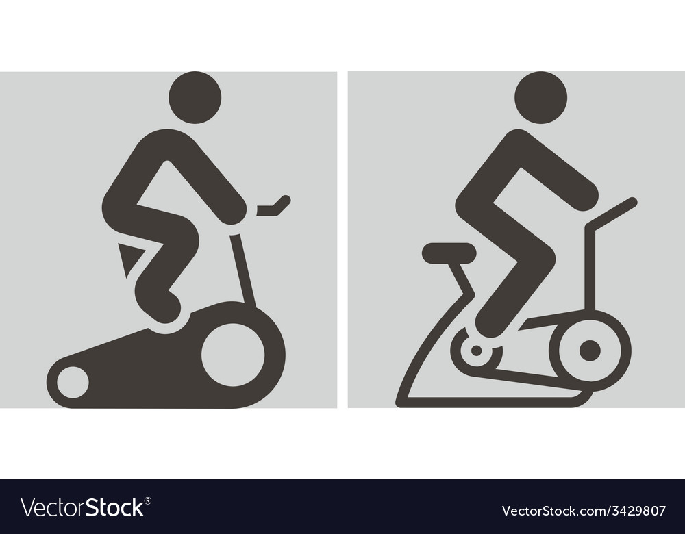 Indoor cycling icons vector | Price: 1 Credit (USD $1)