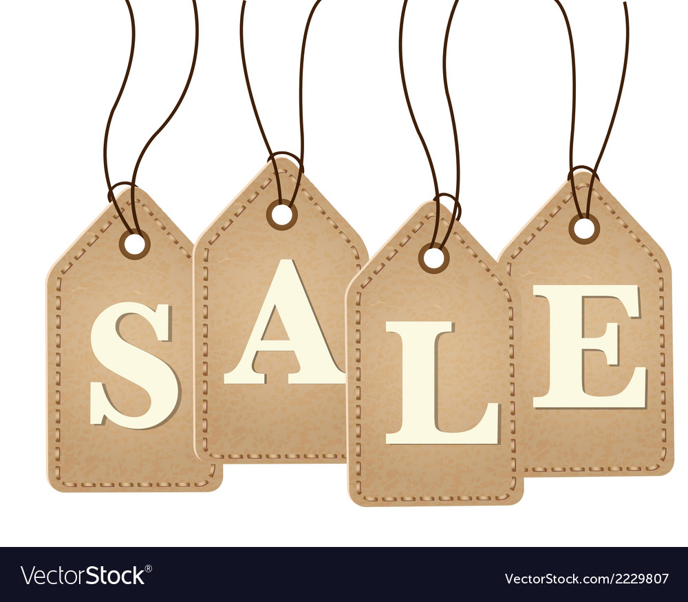 Old paper sale tags vector   Price: 1 Credit (USD $1)