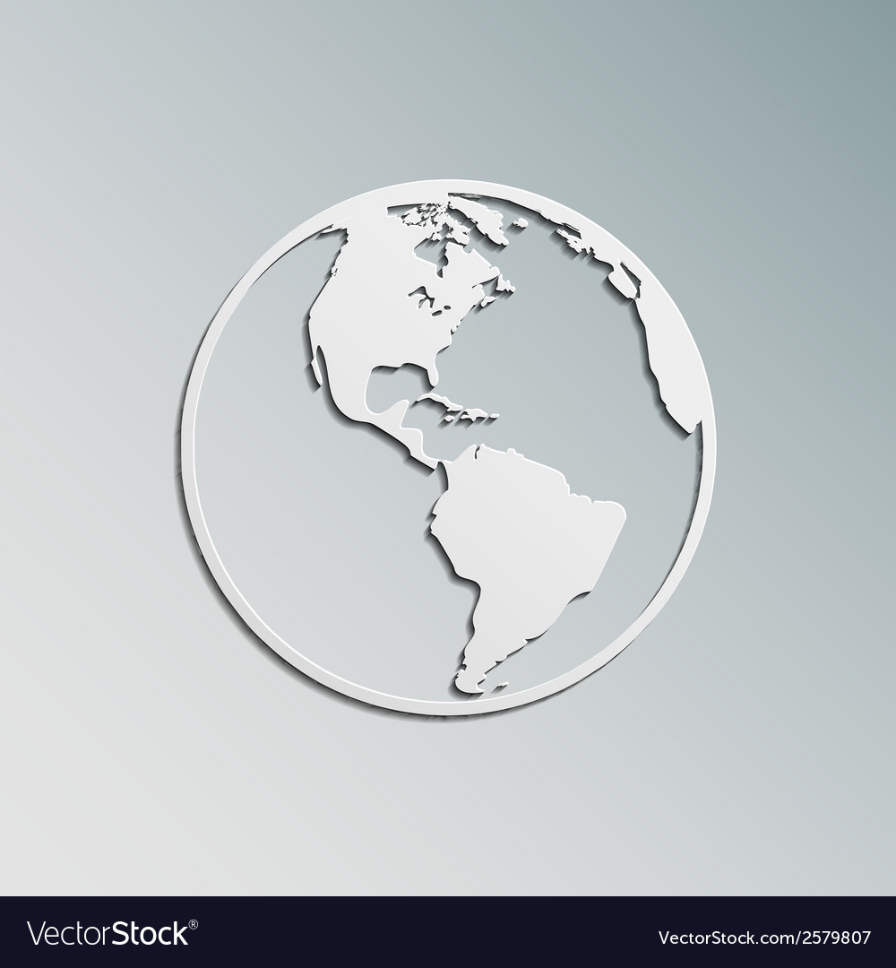 Paper earth vector | Price: 1 Credit (USD $1)