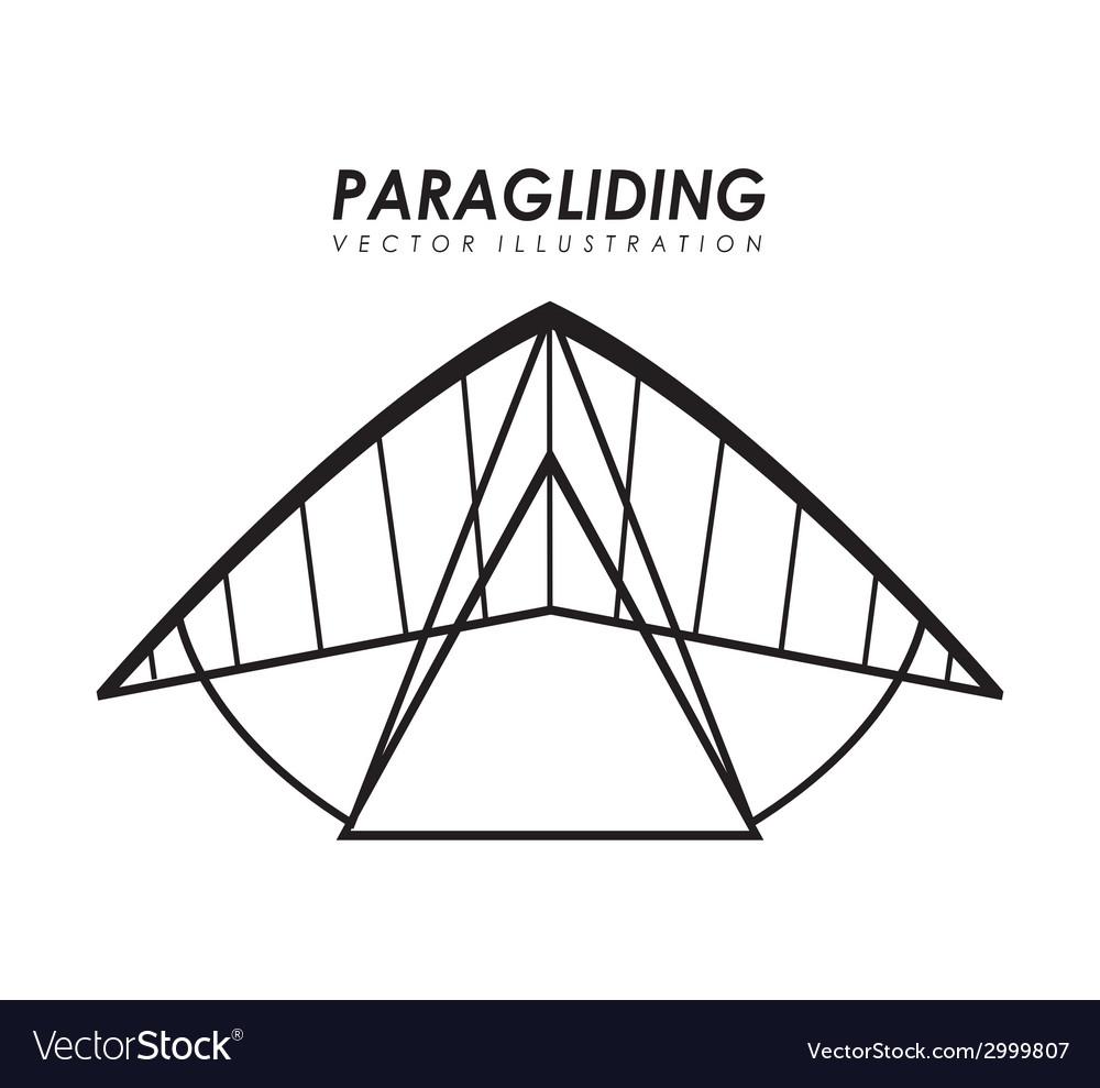 Paragliding design vector | Price: 1 Credit (USD $1)