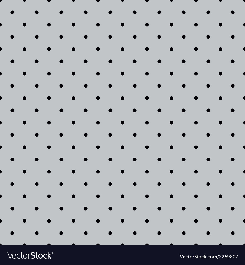 Tile black polka dots on grey background vector | Price: 1 Credit (USD $1)