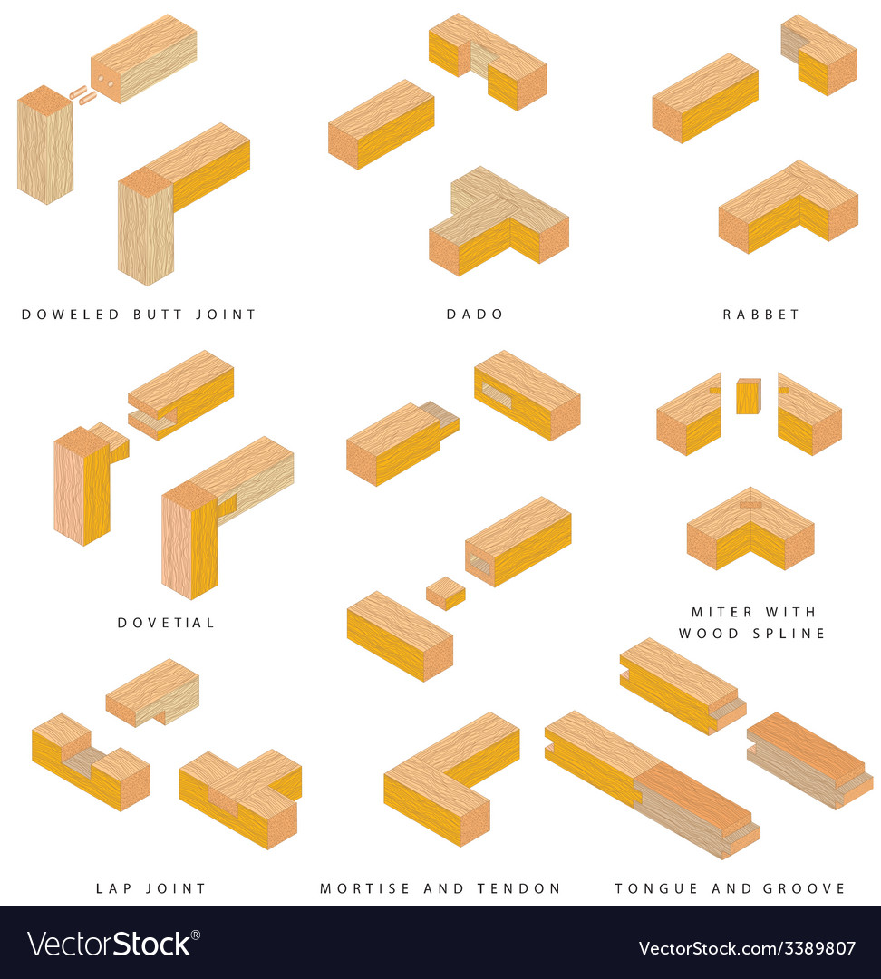 Wooden joints vector | Price: 1 Credit (USD $1)