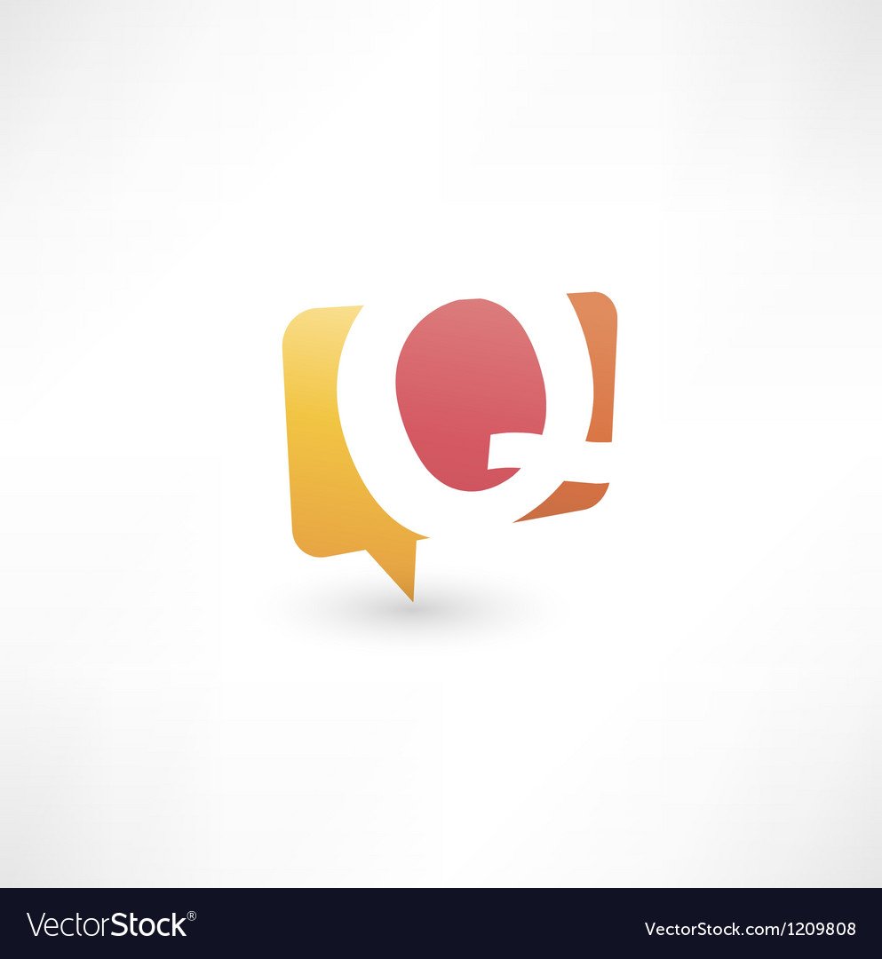 Abstract bubble icon based on the letter q vector | Price: 1 Credit (USD $1)