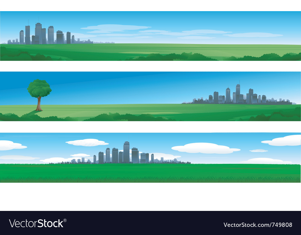 Cityscapes silhouettes background vector | Price: 1 Credit (USD $1)