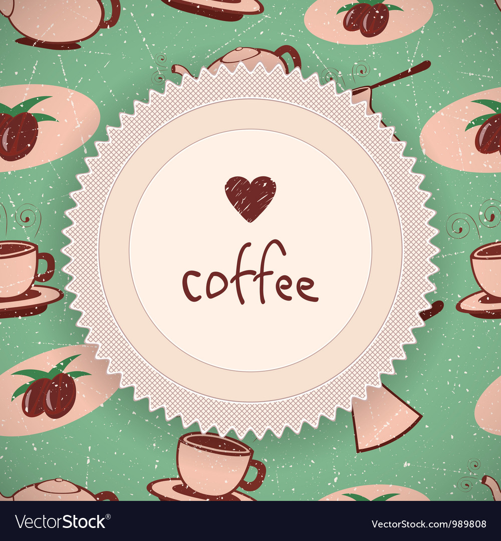 Coffee background in retro style vector | Price: 1 Credit (USD $1)