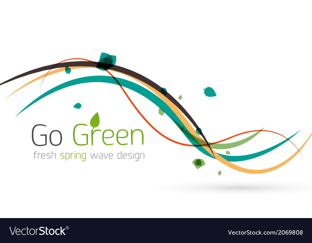 Colorful spring lines conceptual nature design vector | Price: 1 Credit (USD $1)
