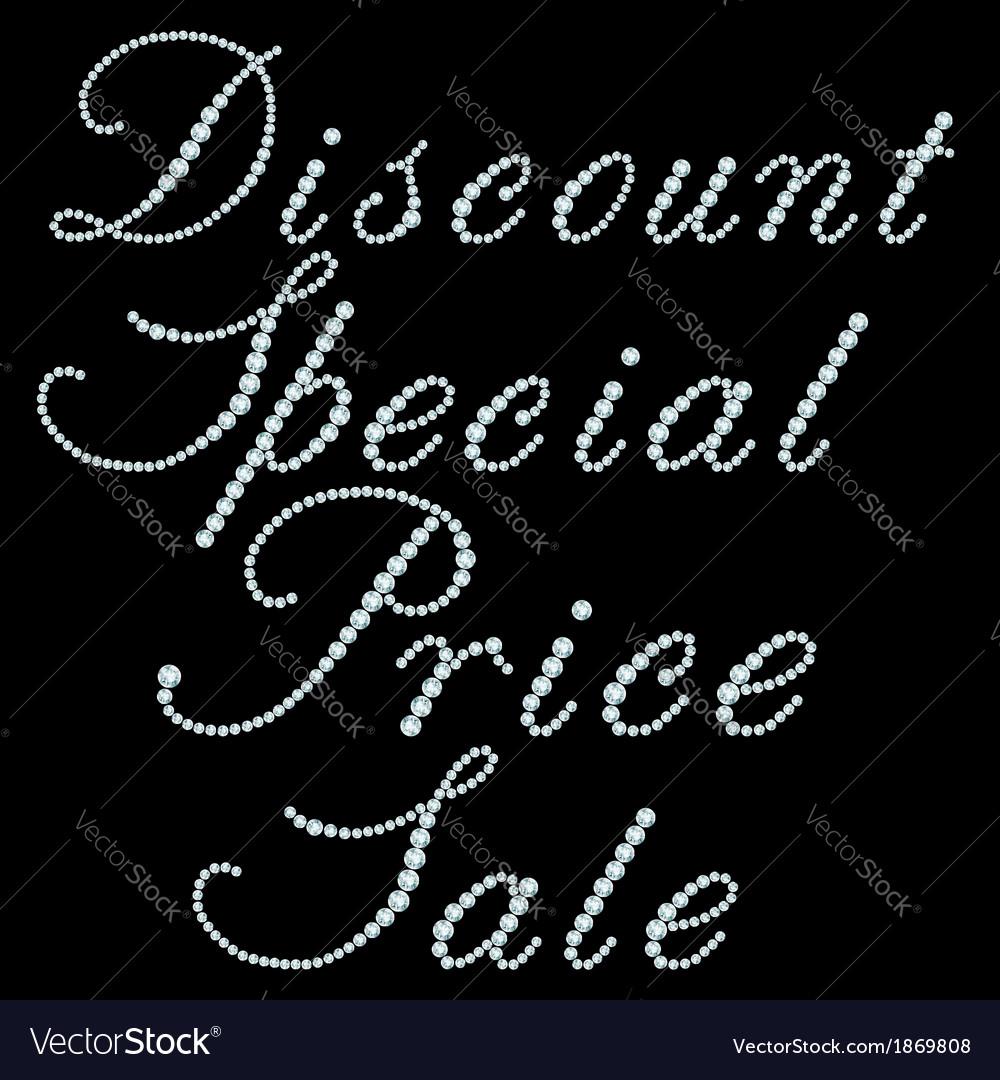 Diamond inscriptions vector | Price: 1 Credit (USD $1)