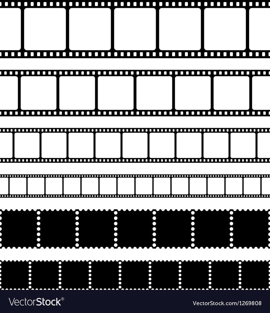 Film strips stamps and photo negatives set vector | Price: 1 Credit (USD $1)