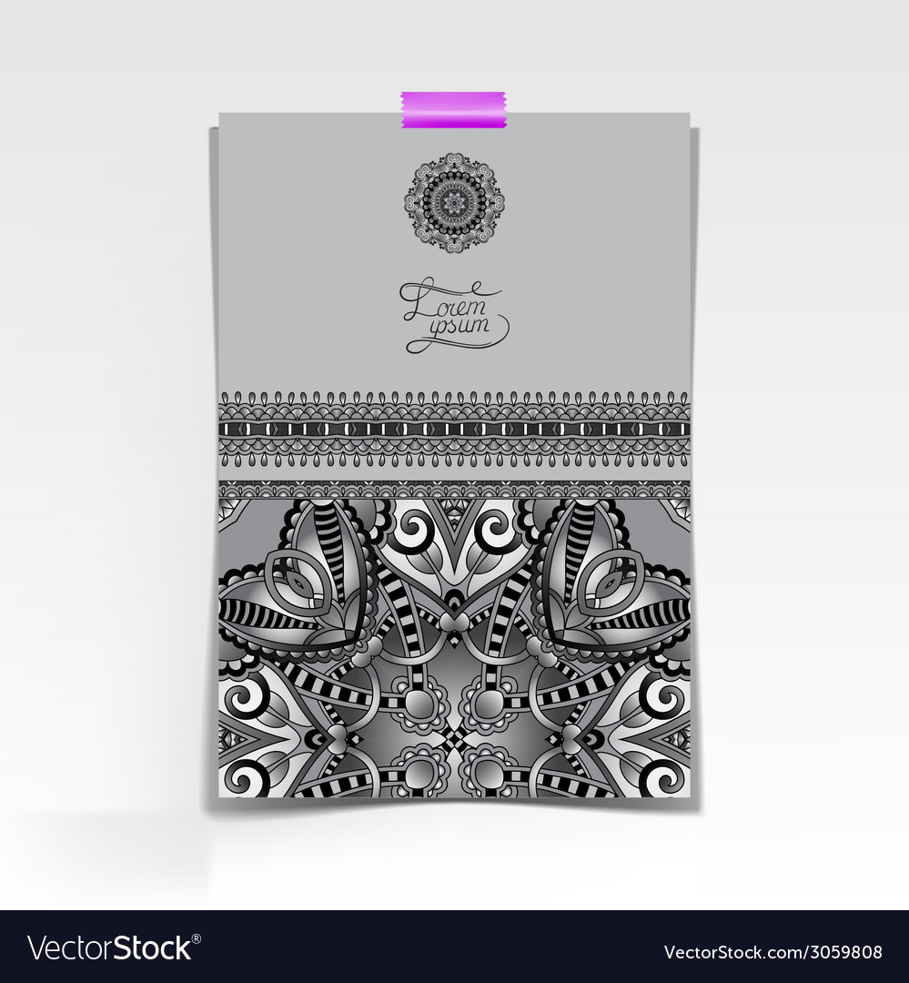 Grey decorative sheet of paper with oriental vector | Price: 1 Credit (USD $1)