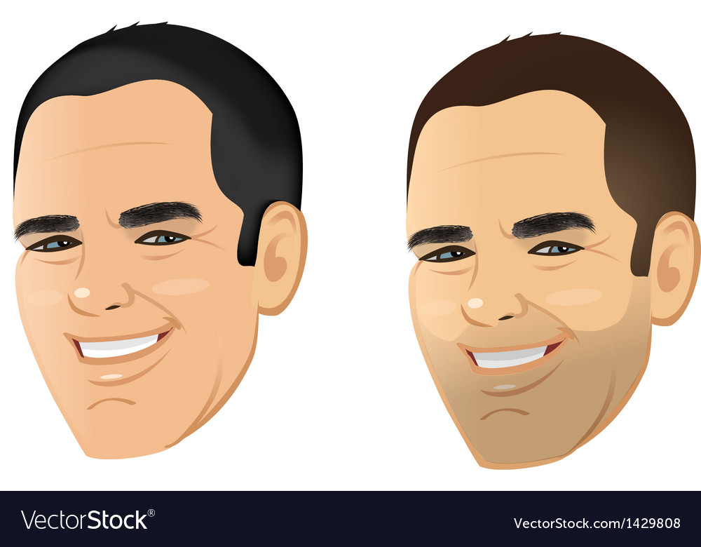 Male face shaven unshaven vector | Price: 1 Credit (USD $1)