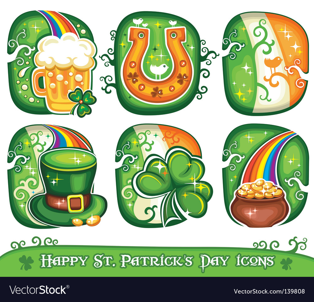 St patrick's day icons vector | Price: 3 Credit (USD $3)