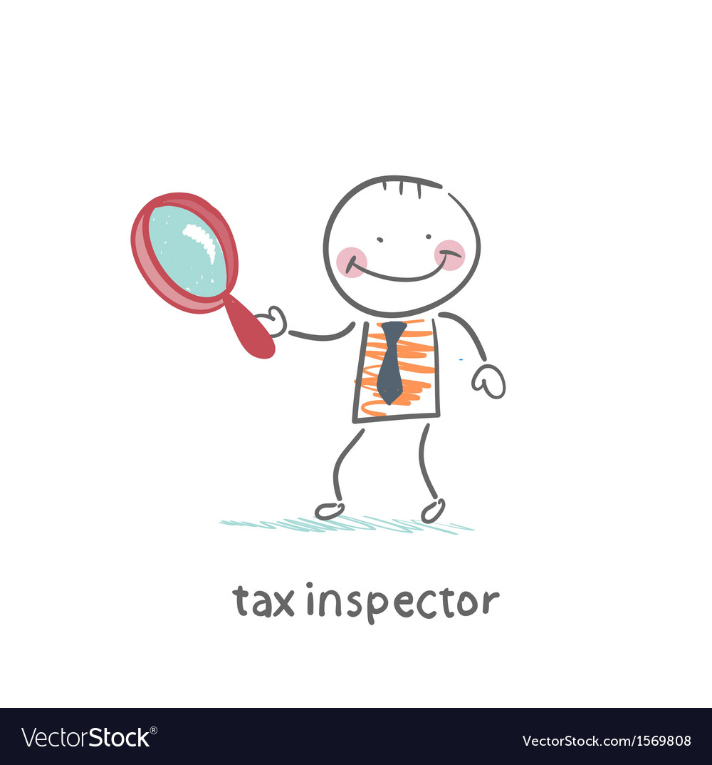 Tax inspector with magnifying glass vector | Price: 1 Credit (USD $1)
