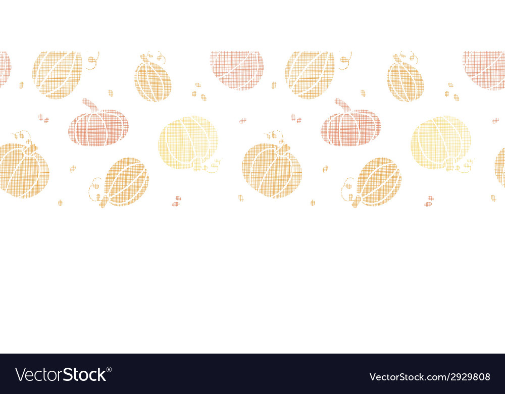 Thanksgiving pumpkins textile horizontal border vector | Price: 1 Credit (USD $1)