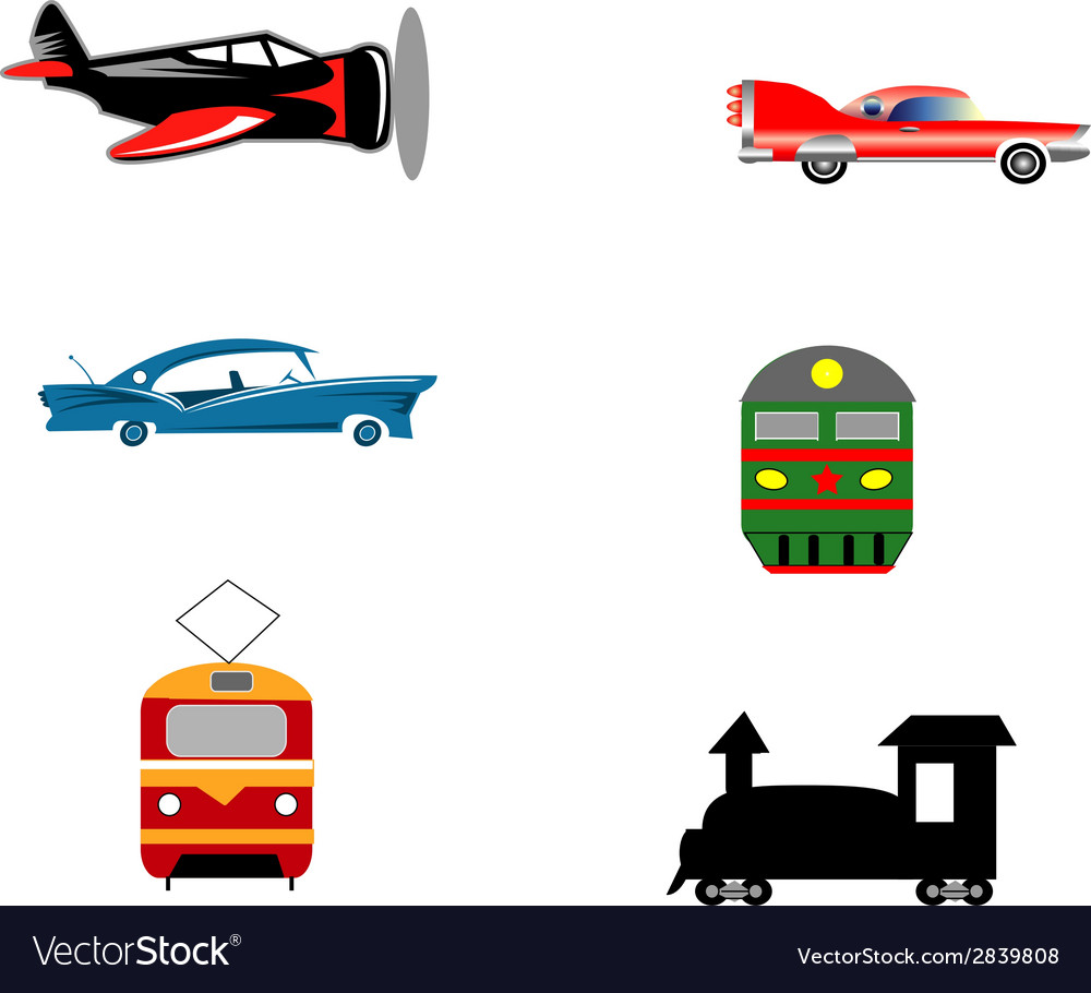 Transport ikons vector | Price: 1 Credit (USD $1)