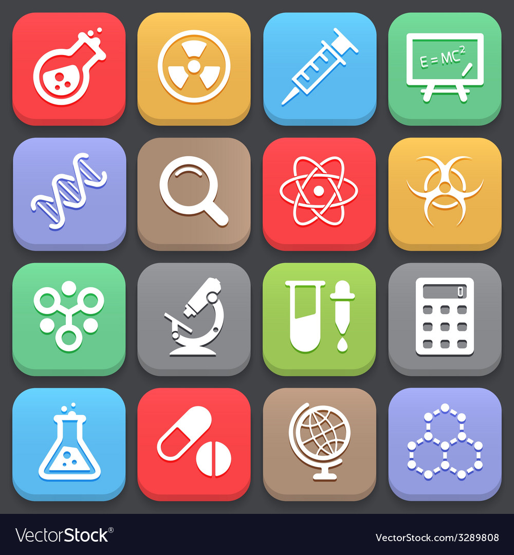 Trendy science icons for web or mobile vector | Price: 1 Credit (USD $1)