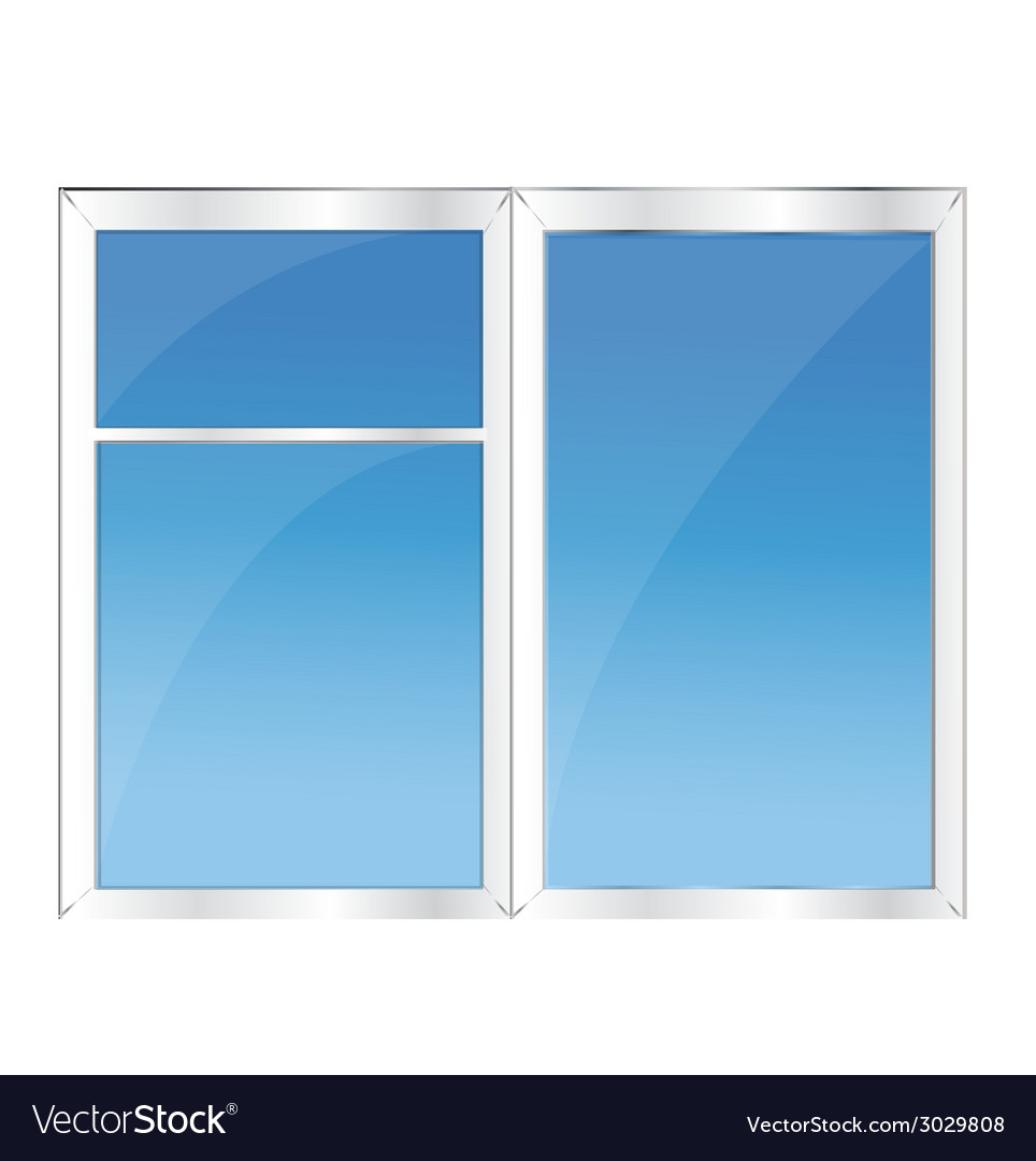Window with blue sky vector | Price: 1 Credit (USD $1)