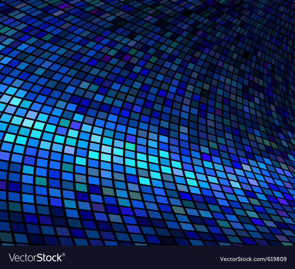 Abstract lights blue disco background vector | Price: 1 Credit (USD $1)