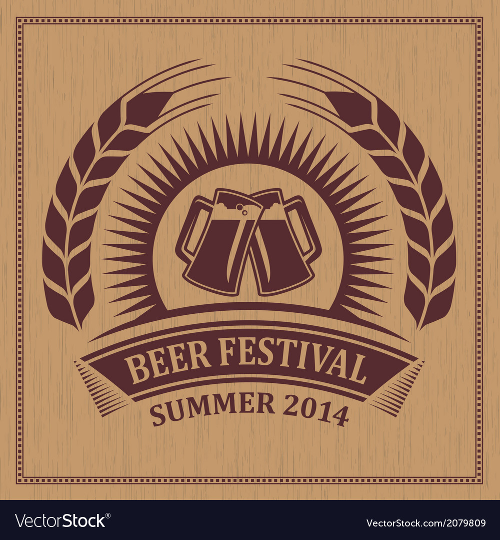 Beer festival icon vector