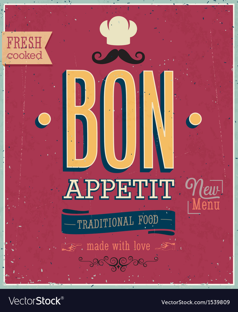 Bon appetit vector | Price: 1 Credit (USD $1)