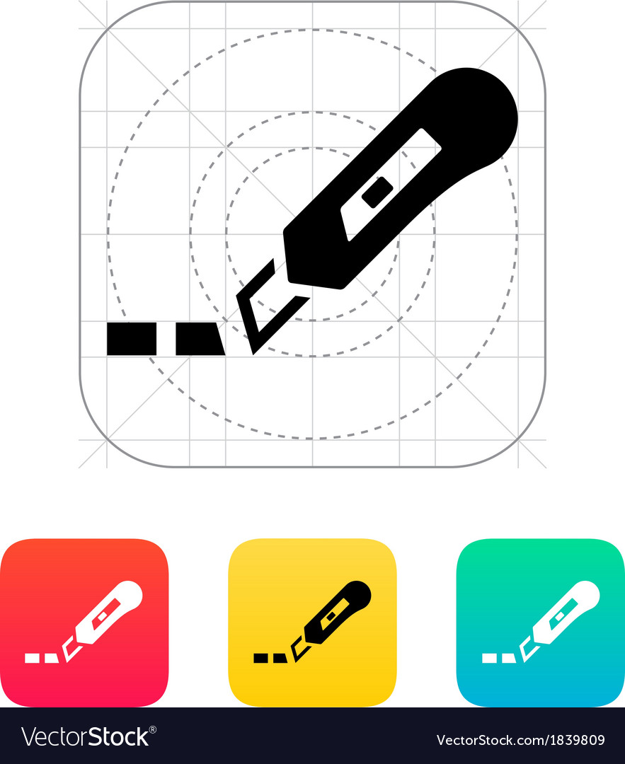 Cut line icon vector | Price: 1 Credit (USD $1)